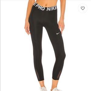 Nike Pro Crop Legging - black/white